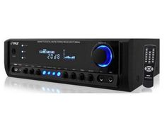 Pyle PT380AU 200 Watt Digital Home Stereo Receiver brings music to any room with crystal clear clarity. The 4-Channel high-power system provides power for up to 4 loudspeakers. It's equipped with USB flash memory reader, audio input jacks, PRE output jacks, REC output jacks, speaker output terminals, (2) microphone input jacks, (2) RCA inputs, built-in cooling fan and plenty more features to upgrade your home audio system. http://www.specssite.com/home-digital-media-devices.html