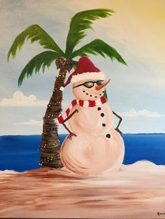 Paint Nite. Drink. Paint. Party! We host painting events at local bars. Come join us for a Paint Nite Party! - the snowman is on the way?