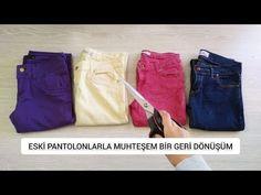 Zengin Hayaller Dükkanı - YouTube Diy Purse, Textiles, Sewing Tutorials, Bermuda Shorts, Youtube, Model, Clothes, Wreaths, Fashion