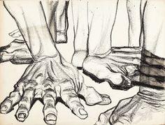 John Biggers. Paola Gambetti via Patricia Schappler onto Drawings & Illustration
