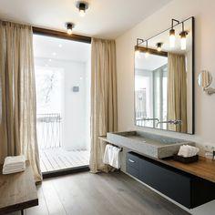 Wiesergut Designhotel Saalbach-Hinterglemm Bad mit Waschbecken