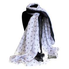 Scarves Wholesale Mini Ancors - Extra Large Scarves Wholesale #Scarves_Wholesale #Wholesale_Scarves #Scarves_White #White_Scarves #White_Scarves_Mini
