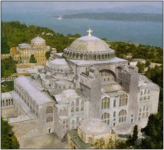 Approximate reconstruction of how the Hagia Sophia appeared in the 12th century before its conversion to a mosque.