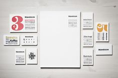 Stationery created by Moodley for Austrian vegetarian and wholefood restaurant Mangolds