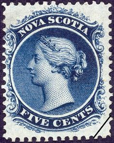 Nova Scotia stamp, their last issue, before merging into Canada issues. Queen Victoria - obviously! Old Stamps, Rare Stamps, Vintage Stamps, Crown Colony, Postage Stamp Collection, Canadian Coins, Classical Art, Fauna, Nova Scotia