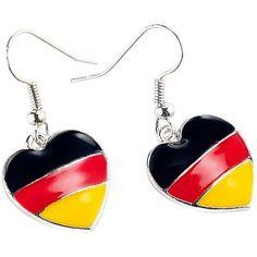 Witzige Ohrringe zur EM #Deutschland
