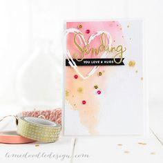 Valentines Card. For more please visit http://limedoodledesign.com/2014/12/sending-you-love/ Debby Hughes - Lime Doodle Design #valentine #card #love