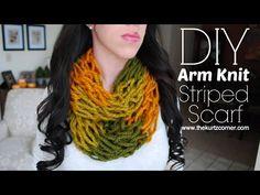 The Kurtz Corner: Arm Knitting - DIY 30 Minute Arm Knit Infinity Scarf