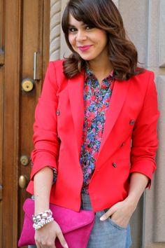 Hot pink H blazer via fashionbananas