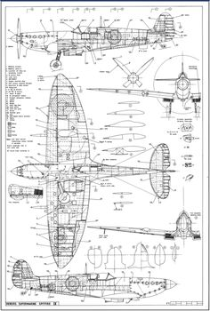 Warbirds Restoration – Technical Drawings and Blueprints For Famous Warbirds Airplane Drawing, Airplane Art, Spitfire Supermarine, Technical Illustration, Technical Drawings, Spitfire Model, Rc Plane Plans, Focke Wulf 190, Aircraft Interiors