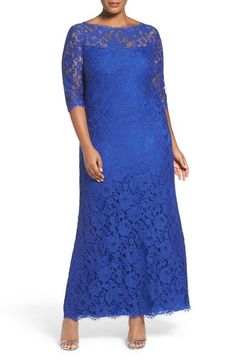 Tadashi Shoji Corded Lace Gown (Plus Size) available at #Nordstrom