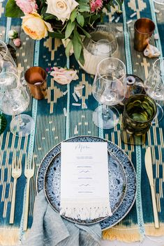 Boho wedding menu de