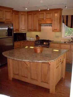 Custom Island, Built And Stained To Match Existing Cabinetry..