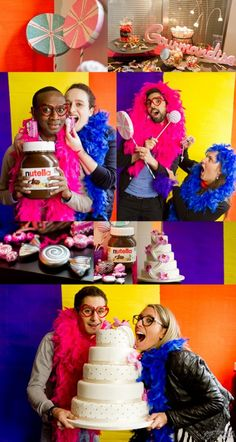 Photobooth Gourmandise couple pour Capdevielle Traiteur animation mariage anniversaire Candy lolypops color wedding cake www.modaliza.fr
