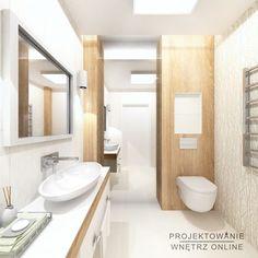 Projekt Łazienki - Drewno i Biel: styl , w kategorii Łazienka zaprojektowany przez Projektowanie Wnętrz Online Condo Interior Design, Toilet, Bathroom, Home Decor, Washroom, Flush Toilet, Decoration Home, Room Decor, Full Bath
