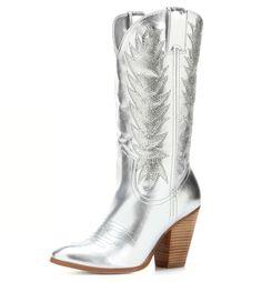 Silver cowgirl boots from Miranda Lambert