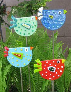 Glassfussion Ornament - Pájaros