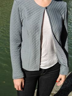 Veste en jersey matelassé orageux France Duval-Stalla http://margault.blogspot.fr