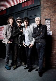 This photo of The Rolling Stones by world famous photographer Rankin was taken in London today to mark the 50th anniversary of the Rollin' Stones first ever live performance on 12 July 1962 at the iconic venue on London's Oxford Street.