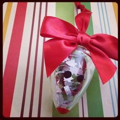 Christmas reindeer/mouse ornament made out of an old Wallflower from Bath & Body Works...