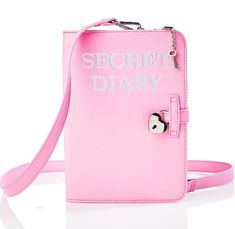 New Pink Secret Diary Shoulder Cross Body Bag Unique Purses, Cute Purses, Purses And Bags, Cute Luggage, Novelty Bags, Secret Diary, Cute Bags, Boho, Cross Body Handbags
