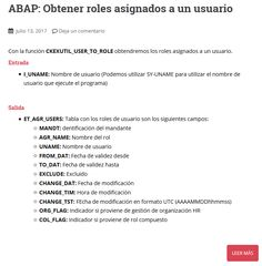 Manual SAP/ABAP para obtener roles asignados a un usuario con la función CKEXUTIL_USER_TO_ROLE