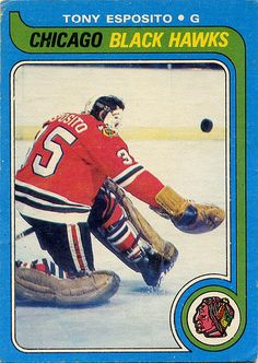 1979 80 O Pee Chee 80 Tony Esposito Chicago Blackhawks Hockey Logos, Hockey Players, Hockey Cards, Baseball Cards, Chicago Logo, Ken Dryden, Nhl Blackhawks, Bernie Parent, Hartford Whalers