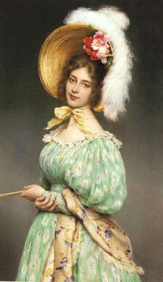 Eugene De Blaas (1843-1931) - Musette