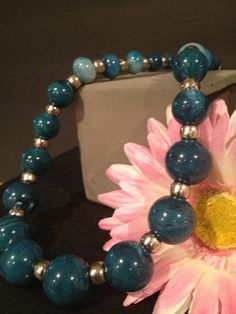 Gorgeous chunky turquoise toned beads accented with by Bedotted, $38.50