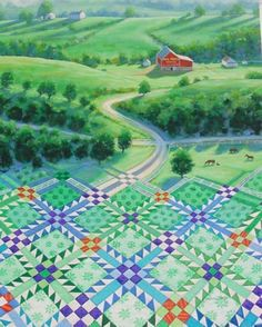 Kentucky Crossroads Quiltscape