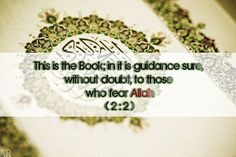 The Qur'an is a book of guidance! Verses of Qur'an