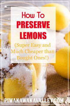 Have you tried to make preserved lemons? This delicious condiment is popular in Moroccan cuisine. Preserved lemons are super easy to make at home, they taste amazing and they last for a long time. This recipe shows you exactly how you can preserve lemons Preserved Lemons, Lemon Recipes, Copycat Recipes, Fermented Foods, Preserving Food, Canning Recipes, Kos, Preserves, Cooking Tips