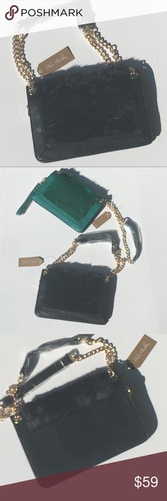 🆕Beautiful Faux Fur Shoulder Bags Beautiful bags choose black or green or both get a better deal when you bundle. You can wear as a Shoulder bag or double the handles for a cute satchel look. Versatility is always great. Choose color when you purchase. Pink Haley Bags Shoulder Bags