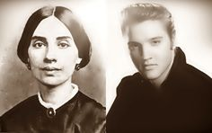 Emily Dickinson and Elvis Presley in Heaven by Hans Ostrom