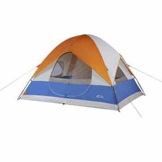 Suisse Sport x Yosemite 5 Person Camping Tent, Blue/Orange Cheap Camping Tents, Camping Cot, Cool Tents, Camping With Kids, Family Camping, Camping Gear, Outdoor Camping, Outdoor Gear, Camping Stuff