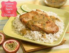 Passion Fruit Sauce On Chicken - The Produce Mom
