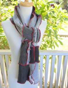 Recycled Sweater Scarf Recycled Clothing Upcycled
