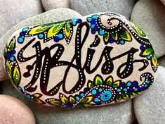 follow your bliss / painted rocks / painted stones /