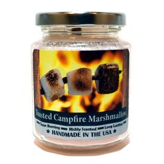 Toasted Campfire Marshmallow Wood Wick Candle by Candeo Candle, 8 oz size Wood Wick Candles, Soy Candles, Scented Candles, Candle Jars, Campfire Marshmallows, Toasted Marshmallow, Soy Wax Melts, Glass Jars, Tea Lights