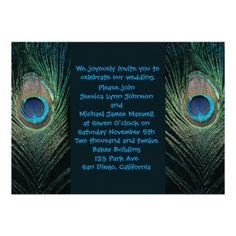 Discount DealsDark Peacock Wedding Invitationin each seller & make purchase online for cheap. Choose the best price and best promotion as you thing Secure Checkout you can trust Buy best