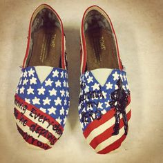 Army Wife TOMS, i seriously want these...America may be failing..but weve held on for a long time, one thing I still believe in is our troops, and my husband