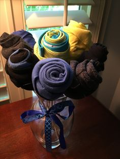 Socks & Underwear bouquet for your man. Easy to make & it made him smile. Great anniversary gift for the hard to buy for man.