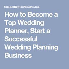 Become a Top Wedding Planner ebook Jobs Pinterest Wedding