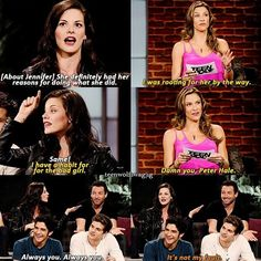 {About Jennifer} She definitely had her reasons for doing what she did. Jill: I was rooting for her by the way. Haley: Same! Jill: I have a habit for the bad girl. Damn you, Peter Hale. Haley: Always you, alway you. Ian: It's not my fault