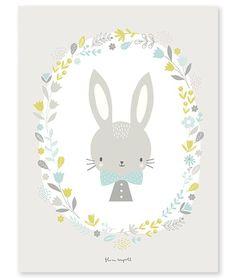 LILIPINSO poster jongens konijn 30 x 40 cm