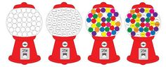 Gumball Machine Color Matching with Craft Pom Poms - Repeat Crafter Me
