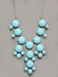 Bubbles in the Sky Necklace-j crew inspired bubble necklace, unique fashion jewelry necklace, pretty fashion jewelry necklace, turquoise bubble necklace, pretty jewelry for women