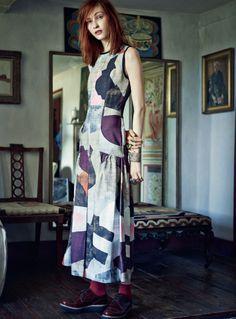 "photo de mode : Harper's Bazaar UK, novembre 2014, ""Amongst the Bohemians"", par Tom Allen, style Bloomsbury, Charleston farm"