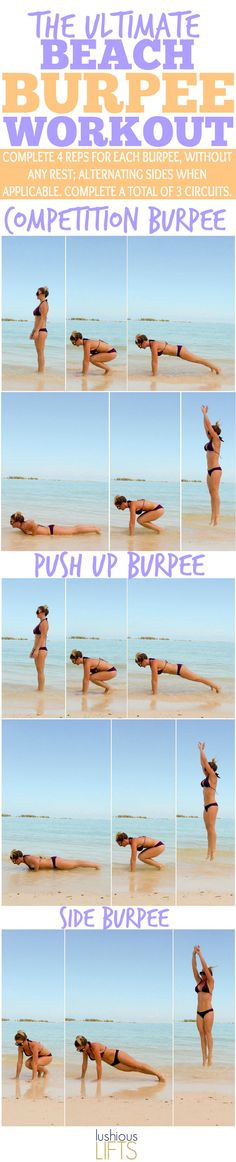 The Ultimate Beach Burpee Circuit Workout