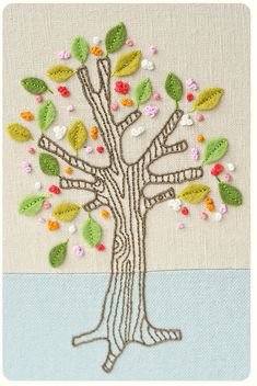 super cute embroidered tree :)